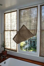 Window Blinds: Cheap Blinds For Bay Windows Last Week I Made Some New  Burlap Window
