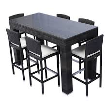 patio tall table set pub style furniture outdoor high bistro chair