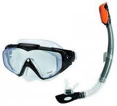 <b>Набор для плавания Intex</b> Silicone Aqua Pro маска + трубка ...