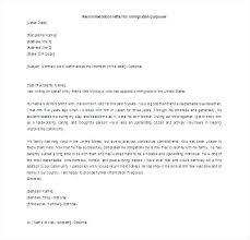 Letter Of Reference Fascinating Sample Letter Of Recommendation For Immigration Purposes Inviletterco