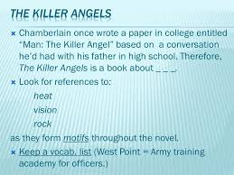 chamberlain once wrote a paper in college entitled ldquo man the chamberlain once wrote a paper in college entitled man the killer angel based on