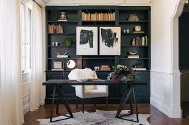 home office designer. Creative Way To Hang Artwork In The Home Office [Design: Authenticity B. Designs Designer E
