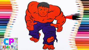 Small Picture Red Hulk Coloring Pages for Kids 2 Hulk Coloring Pages Fun