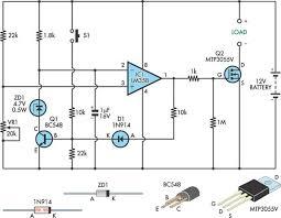 low voltage cutout for 12v sla batteries circuit diagram low voltage cutout for 12v sla batteries circuit schematic