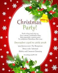 Business Christmas Party Invitation Wording Funny Card Invitation