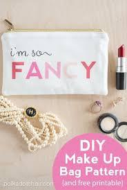 i m so fancy makeup bag pattern on
