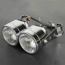 Detail Feedback Questions About Motorcycle Twin Front Headlight Lamp