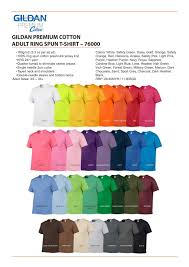 Gildan 76000 Colors Family Reunion Shirts Colorful Shirts