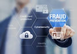fraud prevention on concept about cybersecurity and credit card protection