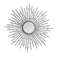 Silver Mirrors For Bedroom Ren Wil Starburst Mirror In Silver Mt798 Decorative Mirrors