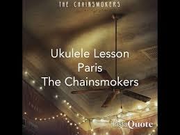 paris the chainsmokers ukulele lesson
