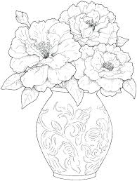 Spring Flowers Coloring Book Pages Free Printable Flower Coloring