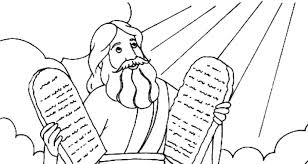 Ten Commandment Coloring Pages Printable Coloring Pages Commandments