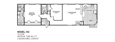 double wide floor plans 2 bedroom. Model-392-18x64-2bedroom-2bath-oak-creek-mobile- Double Wide Floor Plans 2 Bedroom N