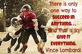 Inspirational Football Vince Lombardi Quote Football