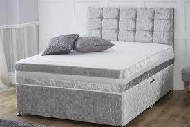 crushed velvet divan bed deal
