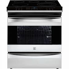 kenmore appliances. kenmore elite 42563 4.6 cu. ft. slide-in electric range - stainless steel appliances