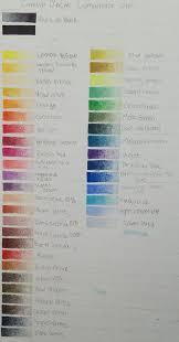 Caran Dache Luminance 40 Color Chart Album On Imgur