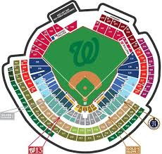Nationals Park Seating Map Washington Nationals Game Game