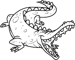 Small Picture Free Printable Crocodile Coloring Pages For Kids For Page esonme