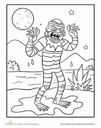 creature black lagoon holiday first the creature from the black lagoon! worksheet education com on monster high worksheets