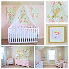 Lucy Victoria's pink floral nursery. Watercolor peony wallpaper from  Anthropologie.