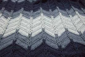 Double Crochet Chevron Pattern Interesting Jacob's Ladder Ripple Afghan Afghans Crocheted My Patterns