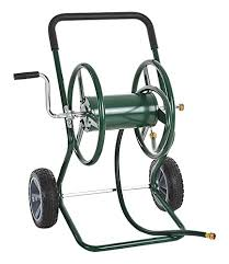 garden hose reel cart. IKAYAA Garden Hose Reel Cart, Steel Frame 2 Wheel Outdoor Water Planting, 200\u0027 Cart T