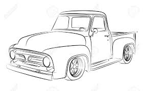 Best Free Pickup Truck Drawings Vector Design » Free Vector Art ...