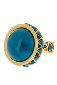 House Of Harlow 1960 Turquoise Black Enamel Dome Ring Size 6 Nordstrom Rack