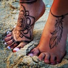 Leg And Foot Tattoos Designs Henna Inspired Feet Tattoo Foot Henna Feet Tattoos Tattoos