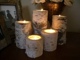 ... Amazing Log Candle Holder Centerpiece 57 About Remodel with Log