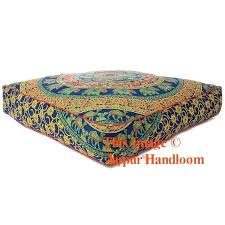 outdoor floor pillows bohemian mandala square floor pillows outdoor seating pouf ottoman cover oversized outdoor floor