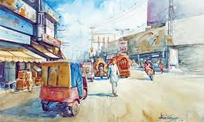 0 abad an exhibition of watercolour paintings