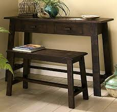 shaker rustic pine desk bench set view images
