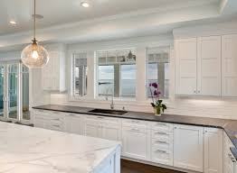 Recessed Kitchen Cabinets White Transitional Kitchen Mantoloking New Jersey By Design Line