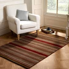 flair rustic corn brown red stripe rug