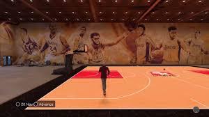 nba 2k17 my court lakers mural you throughout nba wall