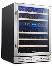 Kalamera 24'' 46-bottle Wine Refrigerator Built-in Dual Zone
