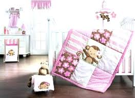 pink monkey crib set sock monkey crib bedding sets nursery baby set sock monkey comforter set