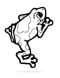 Small Picture Coloring Page Tree Frog Coloring Pages