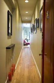 long narrow hallway entrance decorating