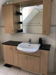 bathroom wall mounted cupboard sink unit