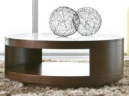 casana tessa clear medium walnut 40 round coffee table
