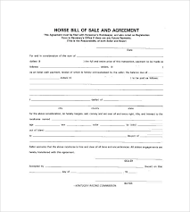 Bill Of Sale For A Horse Horse Bill Of Sale 8 Free Word Excel Format Animal Template
