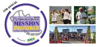 open door mission to host 5th annual mission possible 5k 10k run
