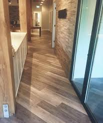 some of the vinyl flooring even allows grouting so if you want to still have the look of tile but the cost and convenience of vinyl you can create that