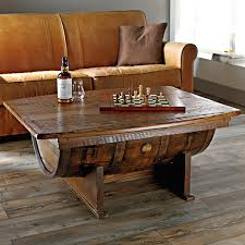 view in gallery beautiful wine barrel coffee table from the wine enthusiast