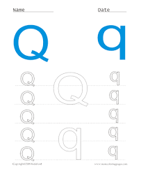 Small Picture Printable Small And Capital Letter Q Coloring Worksheets Free