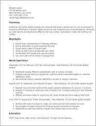 Call Center Quality Assurance Resume 40 Marshall Gparchitects Fascinating Quality Assurance Analyst Resume